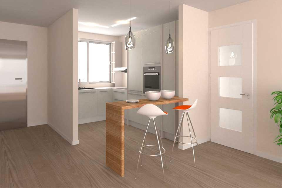 previsualización diseño cocina abierta